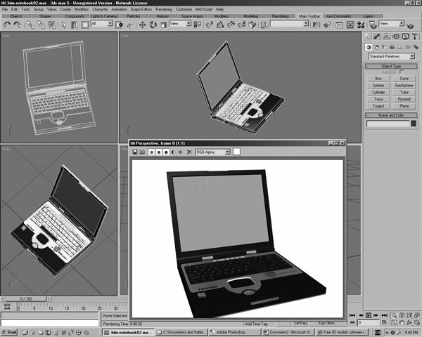 Thinkpad portable notebook computer 3ds 3d studio for Free 3d office design software