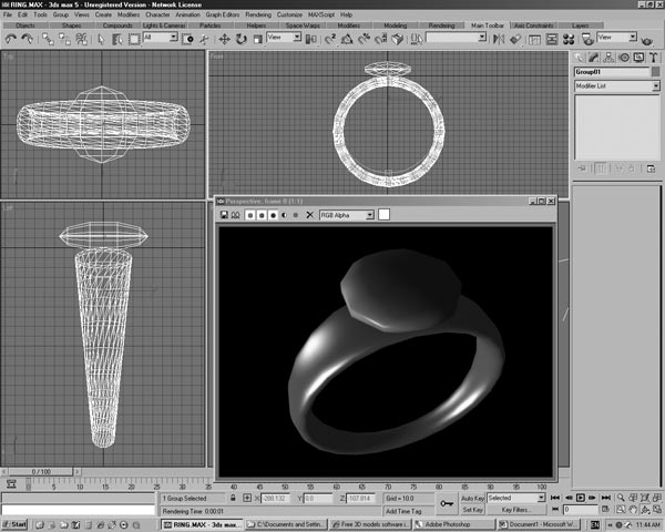 Stone Diamond Ring Software Design 3ds 3d Studio