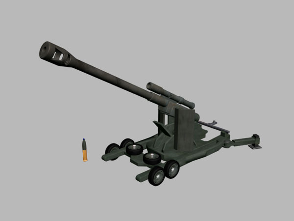 Ww2 Cannon Design 3d Software Applications 3ds 3d Studio Software Military Objects