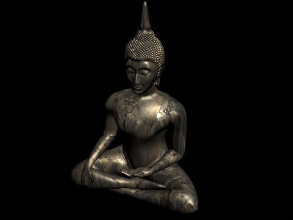 Buddha Religious Figure Asian Mythology Buddhism, (.3ds) 3D Studio Max