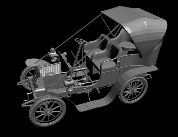 Automobile industry Classic car model, ( 3ds) 3D Studio software