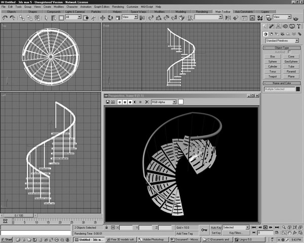 Spiral Steps Design Spiral Staircase 3ds 3d Studio Software Architecture Objects