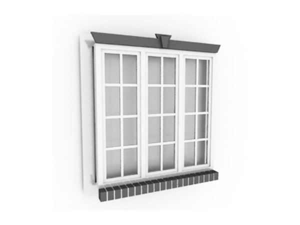Window 3d model 3ds 3d studio software household items for Window 3d model