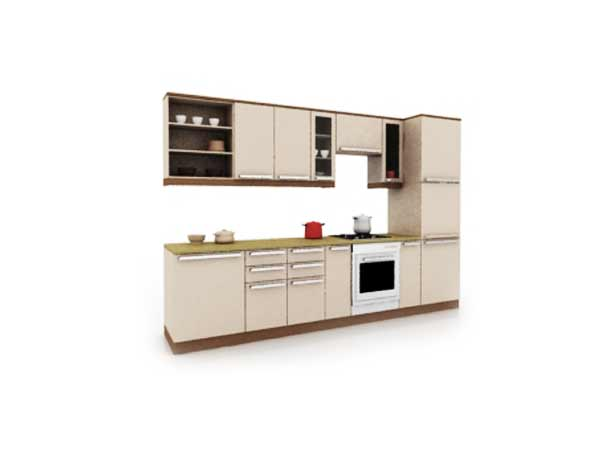 Kitchen cabinets custom design 3ds 3d studio software for Model kitchen images