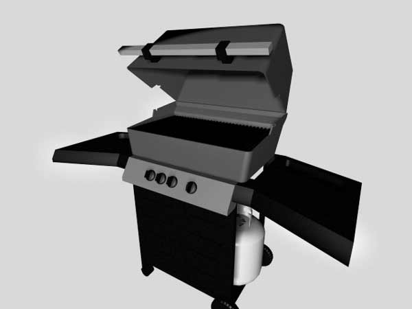 Barbecue Barbeque Bbq Software Design Model 3ds 3d