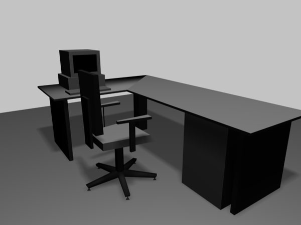 Office Business Executive Table Chair 3ds 3d Studio
