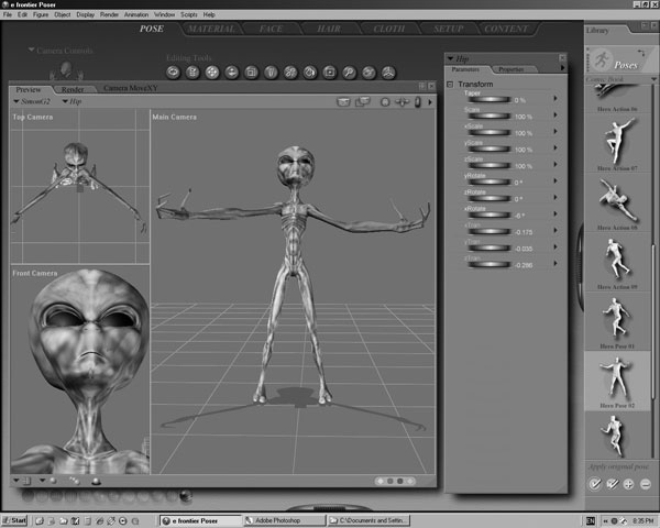 Extraterrestrial creature from outer space 3ds 3d for Outer space 3d model