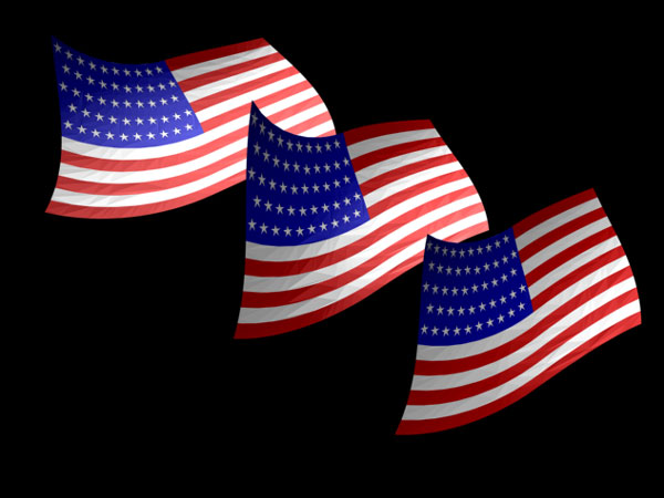 american flag clip art animated. American flag picture 3D USA