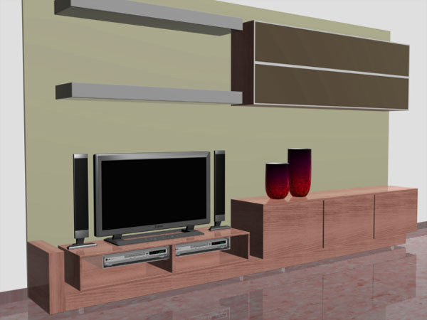 Living room furniture recibidor simple 3ds 3d studio for Room modeling software