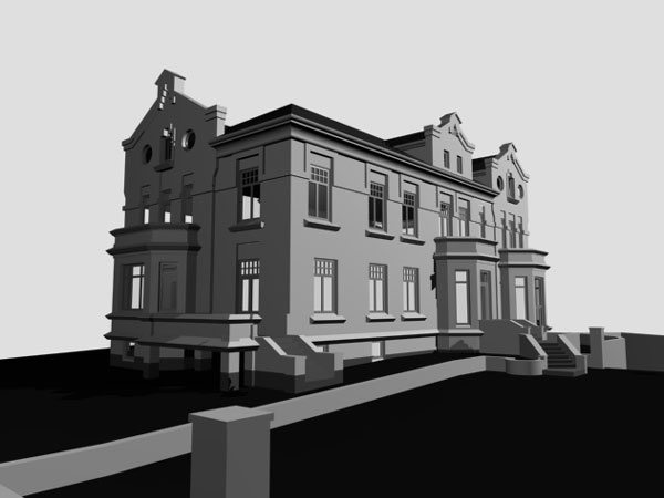 Classic colonial countryside building 3ds 3d studio for 3d studio max models