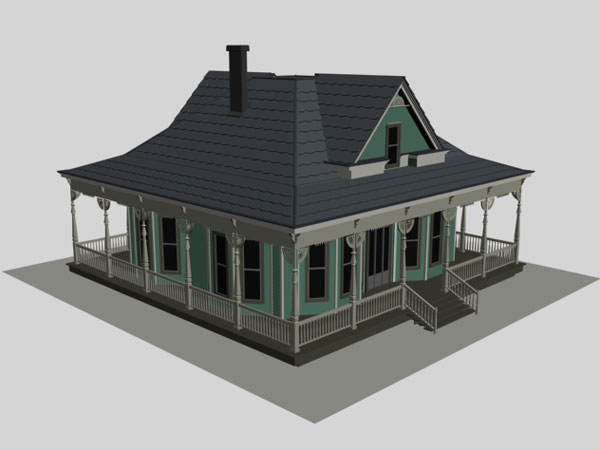 Housing project old realistic suburb house 3ds 3d for House project online