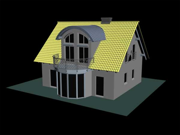 Architecture Country Manor House 3ds 3d Studio