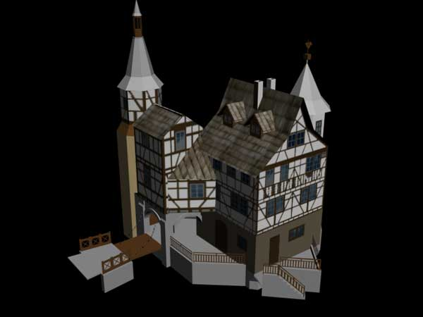 Medieval Castle Fantasy Architecture Design 3ds 3d