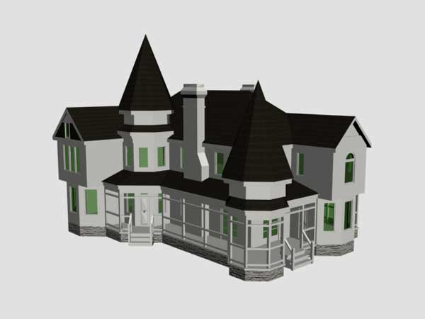 Castle Type House Architecture Design 3ds 3d Studio