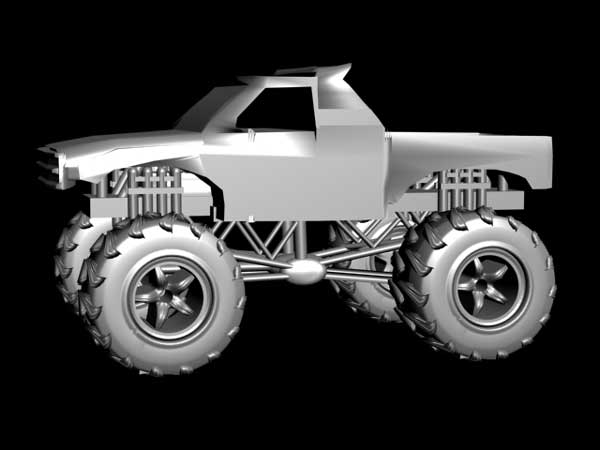 ... pickup truck car, (.3ds) 3D Studio Max software Transportation Objects