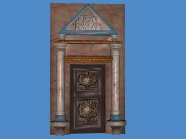Beau Architecture Objects Antique Door. 3d Object Created In Wings 3d,as An  Antique Door