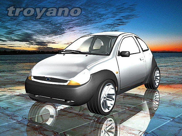 ford ka 1998 car max 3ds max software transportation objects. Black Bedroom Furniture Sets. Home Design Ideas