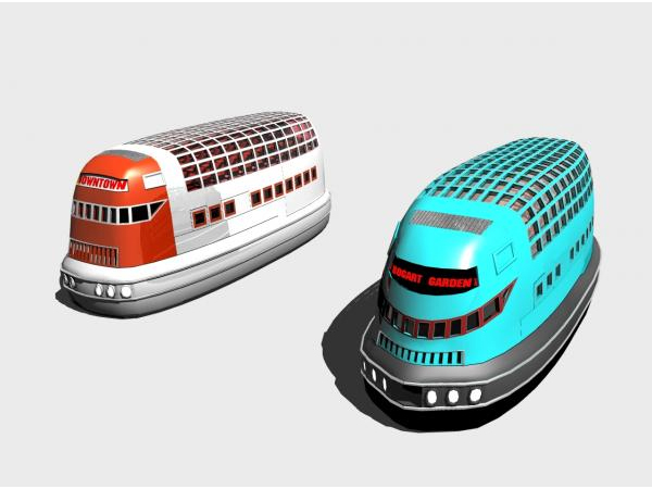 Hoverbuses fantasy air car Hover vehicle, ( 3ds) 3D Studio