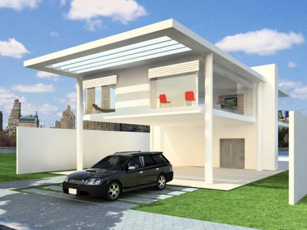 Modern garage house real estate property max 3ds max New model contemporary house