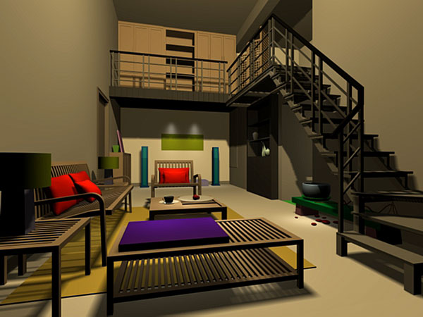 Modern home interior modeling architecture design 3ds Home 3d model