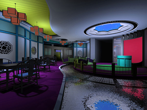 Exotic restaurant interior architecture design mod 3ds for Restaurant design program