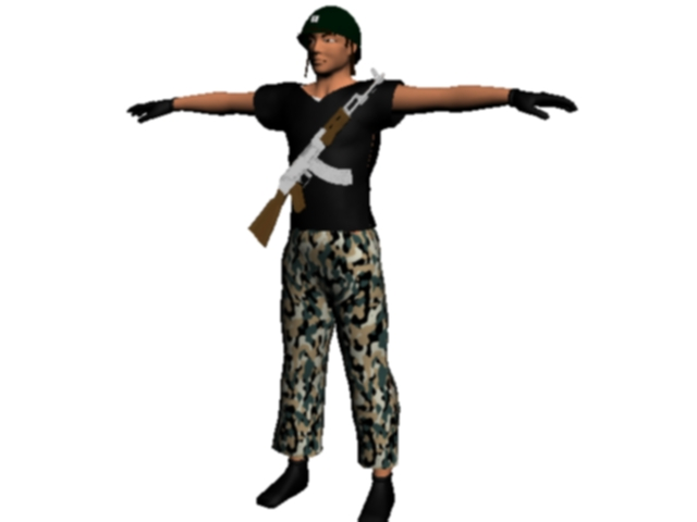 Albanian soldier militant army armed forces, (.max) 3ds max. Life Forms