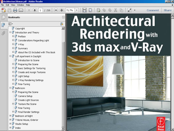 Architectural Rendering 3ds Max V-Ray, Software Tutorial, eBook file