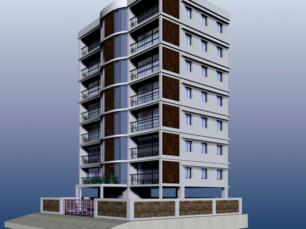 Residential architecture apartment buiding max 3ds max 3d architecture software