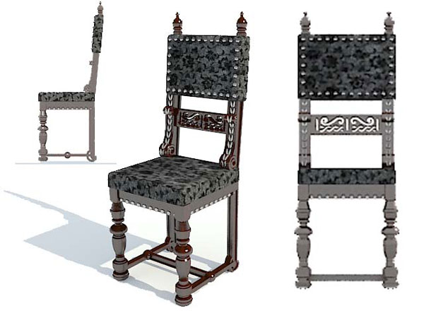 Armchair Classic Home Furniture Decoration Max 3ds Max Software Household Items
