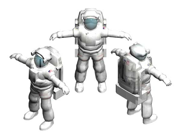 Astronaut spaceman cosmonaut Space Station, ( 3ds) 3D Studio