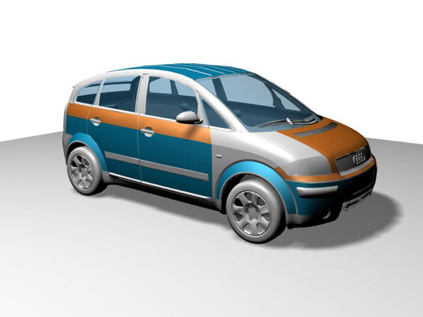 audi a2 tuning mpv multi purpose vehicle 3ds 3d studio. Black Bedroom Furniture Sets. Home Design Ideas