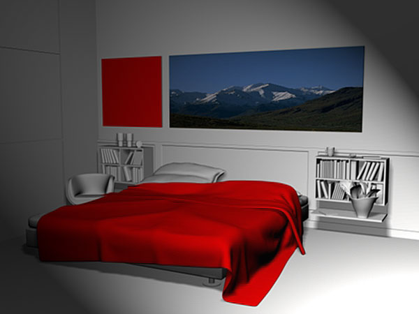 bedroom interior furniture walls bed 3ds 3d studio max software