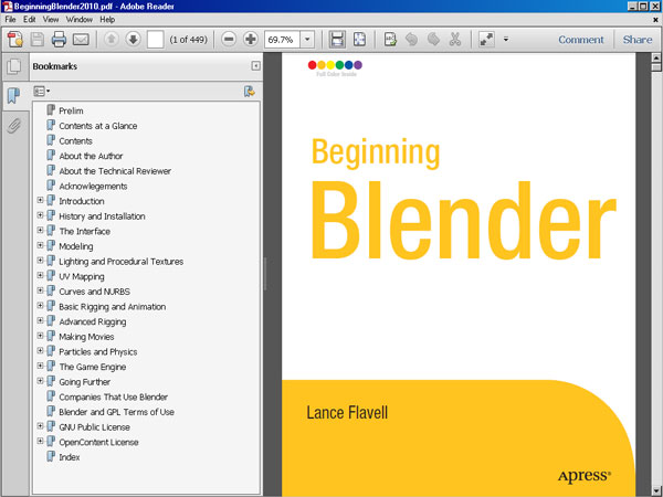 Beginning Blender pdf tutorial, eBook file software