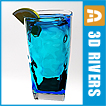 Blue lagoon cocktail summer drink, (.max) 3ds max, Miscellaneous Items.