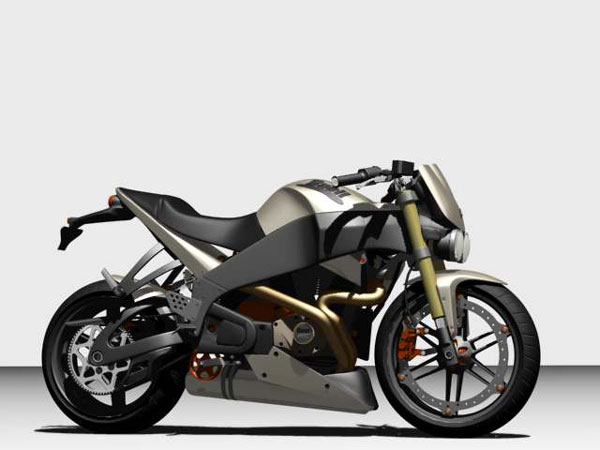 Buell great motorcycle, (.max) 3ds max software Transportation ...