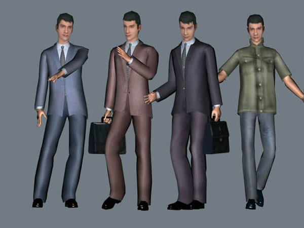 Businessman manager office professional, ( max) 3ds max software
