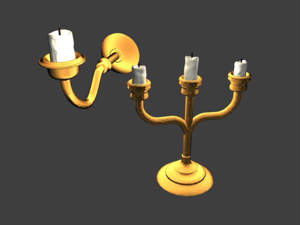 Candle Lights Chandelier, Lighting Chandeliers, (.3ds) 3D Studio ...