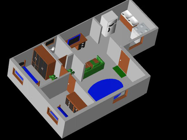 Casa house floor plan 3ds 3d studio max software for Planner casa 3d