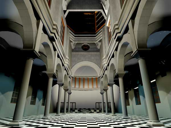 Cathedral interior exterior 3ds 3d studio max software for Exterior 3ds max model