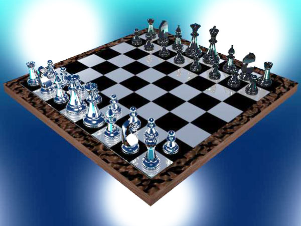 Glass Chess Board Material Max 3ds Max Software