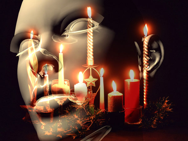 ... Christmas mood candles wallpaper, (.max) 3ds max software Life Forms