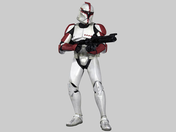 Clone trooper captain, (.3ds) 3D Studio Max software Life Forms