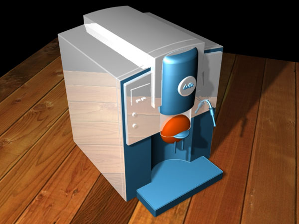 Coffee maker kitchen appliance 3ds 3d studio max 3d model house maker