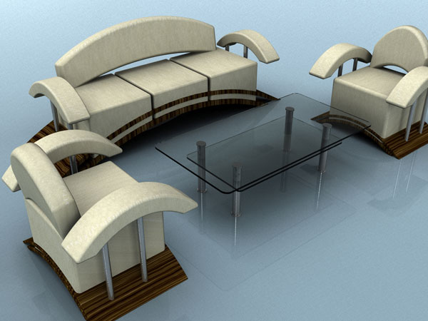 Home Furniture Sofa Armchair Table Furnishings Max 3ds Max Software Household Items