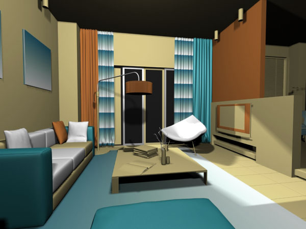 Condo apartment interior max max 3ds max software for Interior modeling in 3ds max