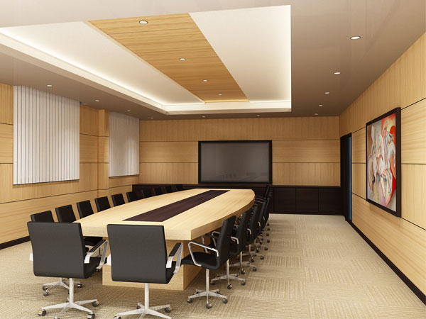 Conference room modular furniture max 3ds max software for Office design 3d