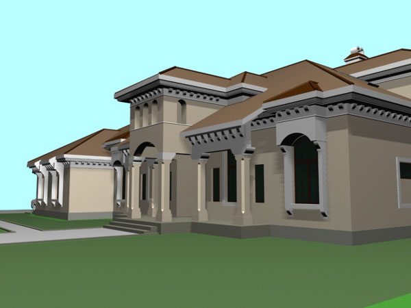 Contemporary House Estate Home 3ds 3d Studio Max