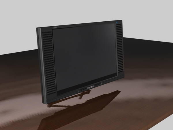 custom sony computer monitor tv c4d cinema 4d software. Black Bedroom Furniture Sets. Home Design Ideas