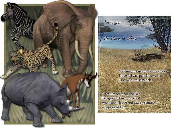 Safari Starter animals bundle DAZ 3D, Other software Life Forms