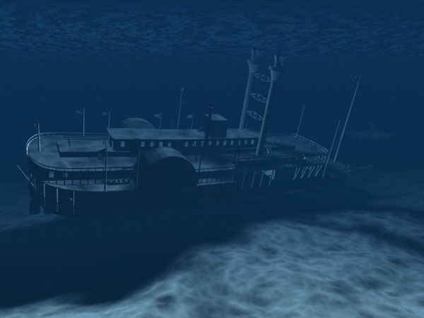 ... underwater shipwreck, (.max) 3ds max software Transportation Objects